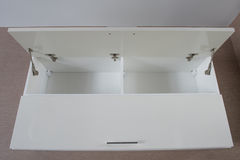 Cupboard on the wall (Open). Interior Stock Image