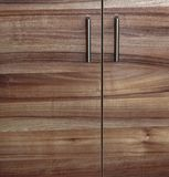Cupboard wood door cabinet in kitchen Royalty Free Stock Photos