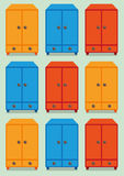 Cupboards cartoon  Royalty Free Stock Photo