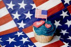 cupcake ανεξαρτησία ημέρας Στοκ Φωτογραφία