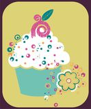 cupcake απεικόνιση Στοκ φωτογραφία με δικαίωμα ελεύθερης χρήσης