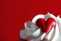 cupcake βαλεντίνοι Στοκ εικόνα με δικαίωμα ελεύθερης χρήσης