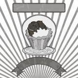 Cupcake γραπτό Στοκ Εικόνες