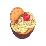 cupcake εύγευστος απεικόνιση αποθεμάτων