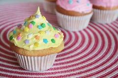 cupcake κίτρινος Στοκ φωτογραφίες με δικαίωμα ελεύθερης χρήσης