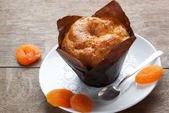 Cupcake και ξηρά βερίκοκα Στοκ Φωτογραφίες