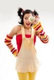 cupcake κορίτσι Στοκ φωτογραφίες με δικαίωμα ελεύθερης χρήσης