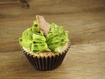 Cupcake με ένα αστέρι Στοκ εικόνα με δικαίωμα ελεύθερης χρήσης