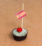Cupcake με τη σημαία της Ισπανίας Στοκ φωτογραφίες με δικαίωμα ελεύθερης χρήσης