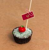 Cupcake με τη σημαία του Μαυροβουνίου Στοκ φωτογραφίες με δικαίωμα ελεύθερης χρήσης