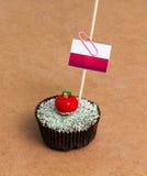 Cupcake με τη σημαία του Μονακό Στοκ εικόνα με δικαίωμα ελεύθερης χρήσης