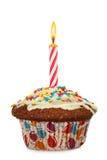 Cupcake με το κερί στοκ εικόνες με δικαίωμα ελεύθερης χρήσης