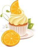 cupcake πορτοκάλι Στοκ Φωτογραφία