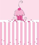 cupcake πρόσκληση Στοκ Φωτογραφίες