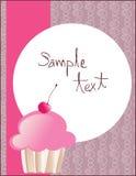 cupcake πρότυπο Στοκ Εικόνες