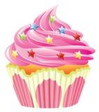 cupcake ροζ διανυσματική απεικόνιση