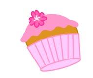 cupcake ροζ Στοκ Εικόνα