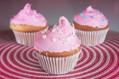 cupcake ροζ Στοκ φωτογραφία με δικαίωμα ελεύθερης χρήσης
