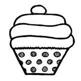 Cupcake στην άσπρη ανασκόπηση Στοκ φωτογραφία με δικαίωμα ελεύθερης χρήσης