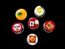 Cupcake στο κινεζικό θέμα Στοκ Φωτογραφίες