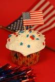 cupcake τέταρτο Ιούλιος Στοκ εικόνα με δικαίωμα ελεύθερης χρήσης