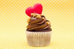 Cupcake της αγάπης Στοκ εικόνα με δικαίωμα ελεύθερης χρήσης