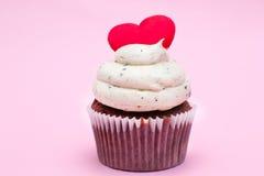 Cupcake της αγάπης Στοκ Εικόνα