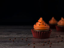 Cupcake, τρισδιάστατη απόδοση Στοκ Φωτογραφία