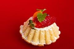 cupcake φράουλα Στοκ εικόνες με δικαίωμα ελεύθερης χρήσης