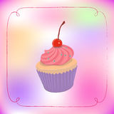 cupcake χαριτωμένος Στοκ εικόνες με δικαίωμα ελεύθερης χρήσης