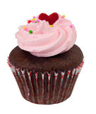 Cupcake. Single cupcake isolated on white background Royalty Free Stock Image
