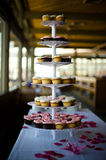 Cupcake. S on a table during a wedding Stock Photo