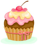 Cupcake. Illustration of isolated a cupcake on white background stock illustration