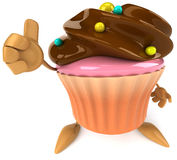 Cupcake. Fun Cupcake, 3d generated picture Royalty Free Stock Photography
