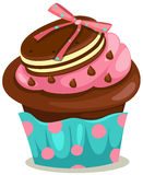 Cupcake. Illustration of isolated cupcake on white background vector illustration