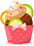Cupcake. Illustration of isolated cupcake  on white background Stock Images