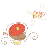 Cupcake. Vector illustration of a stylized Cupcake. (Vector file included Royalty Free Stock Image