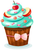 Cupcake. Illustration of isolated cupcake on white background royalty free illustration