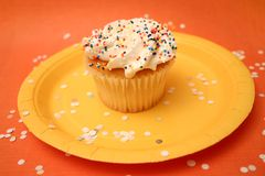 Cupcake. With confetti Royalty Free Stock Image