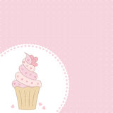 Cupcake. The Pink background with cupcake Royalty Free Stock Images