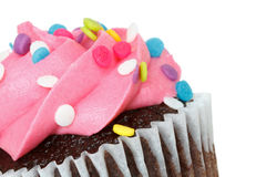 Cupcake. Isolated on white background with text space Stock Photos