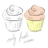 Cupcake. Illustration of two beautiful cupcakes Royalty Free Stock Images
