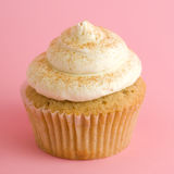 Cupcake. On pink background with frosting Stock Photography