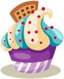 Cupcake. Illustration of isolated cupcake on white  background Royalty Free Stock Images