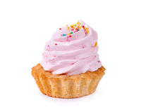 Cupcake. Tasty cupcake on white background Stock Photo