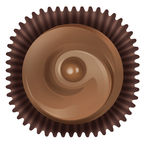 Cupcake. Illustration of chocos on a white background Royalty Free Stock Photography