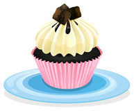 Cupcake. Illustration of an isolated cupcake on a white Royalty Free Stock Photo