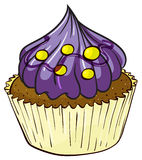 A cupcake. Illustration of an isolated a cupcake on a white background Stock Photography