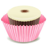 Cupcake. Illustration of an isolated cupcake Stock Images