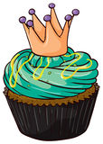 A cupcake. Illustration of an isolated a cupcake on a white background Stock Photos